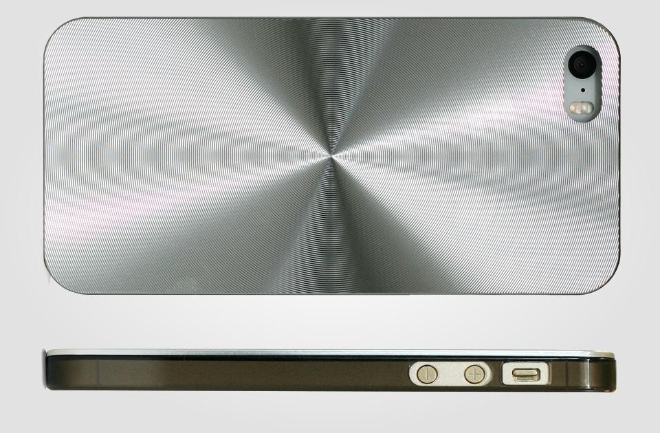 Geometric Metal Silver iPhone 5 Case