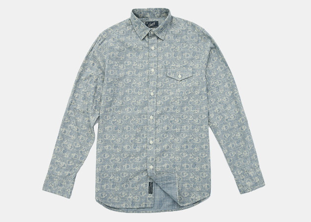Grayers Pattison Printed Chambray Shirt
