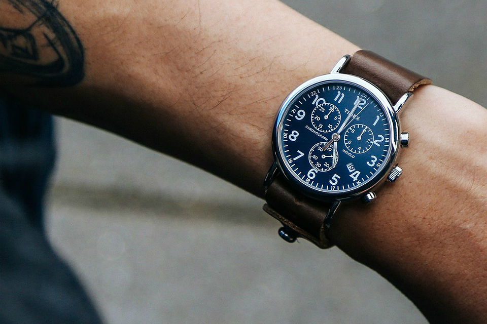 Horween Leather Timex Chronograph