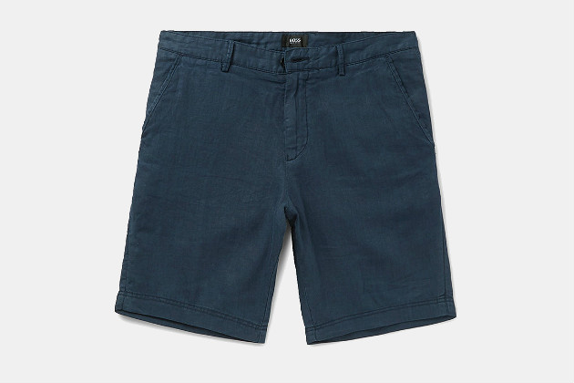 Hugo Boss Washed Linen Shorts