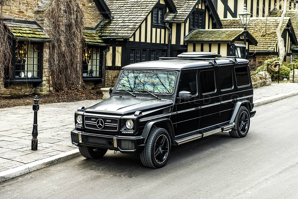 Inkas Armored Limo based on Mercedes G63 AMG