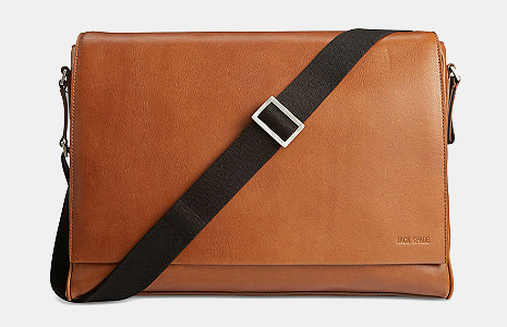 Jack Spade Fulton Leather Messenger Bag