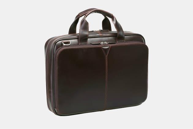 Johnston & Murphy Leather Laptop Briefcase