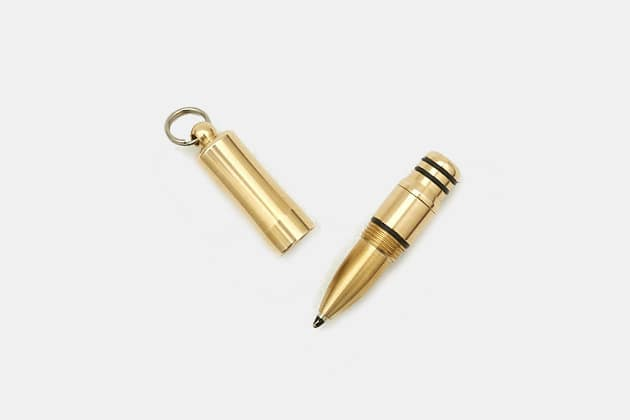 Mini Brass Keychain Pen