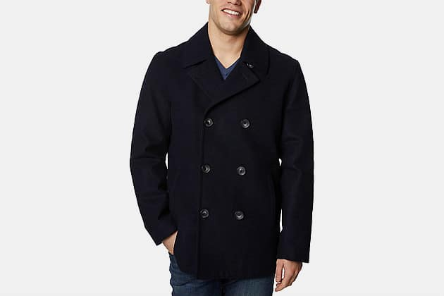 Nautica Wool-Blend Double-Breasted Peacoat