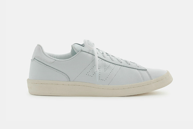 New Balance for J.Crew 791 Pure White Leather Sneakers