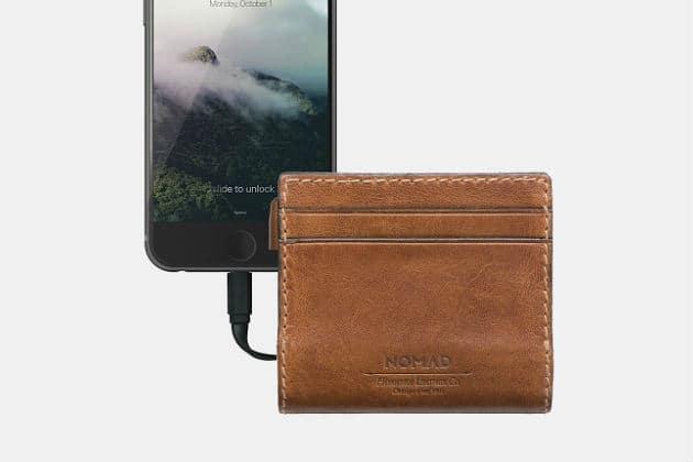 Nomad Slim Leather Charging Wallet