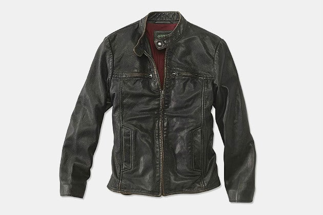 02890709e Orvis Foxdale Racer Leather Jacket