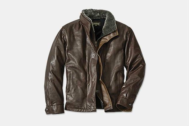 Orvis World Traveler Leather Jacket
