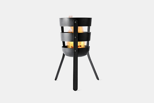 Oxidized Steel Fire Basket