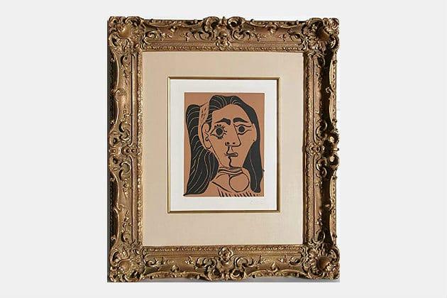 Pablo Picasso's Jacqueline au Bandeau Woodcut