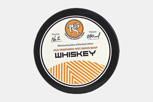 Portland General Store Whiskey Wet Shave Soap