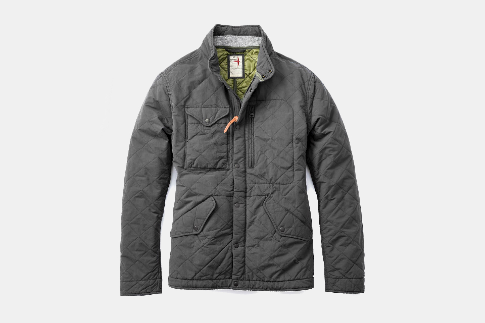 Relwen Quilted Patrol Jacket Charcoal