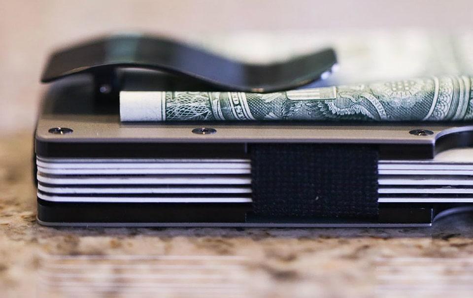 Ridge Titanium Money Clip Wallet
