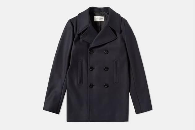 Saint Laurent Wool Pea Coat