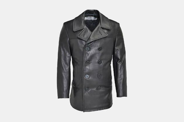 Schott Leather Naval Peacoat