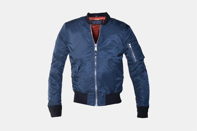 Schott Slim-Fit Nylon Flight Jacket