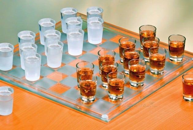 Checkers Shot Glasses