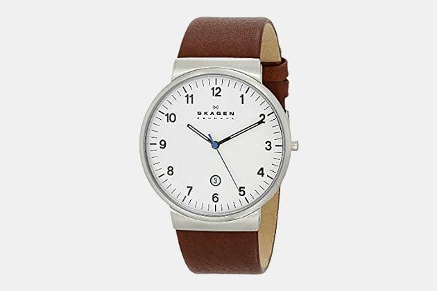 Skagen Ancher Leather Watch