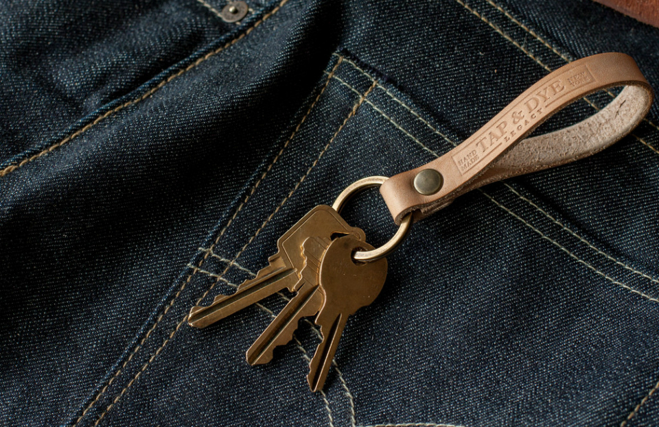 Tap & Dye Leather Key Fobs