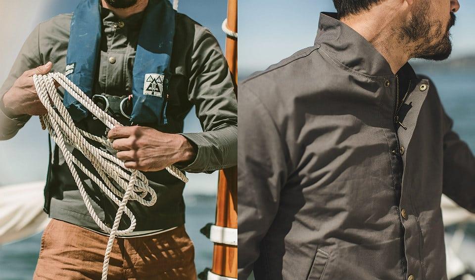 Taylor Stitch Bomber Jacket Charcoal