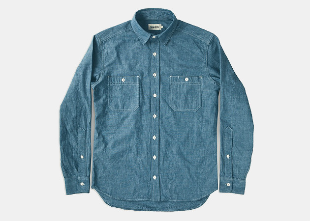 Taylor Stitch The California in Blue Everyday Chambray