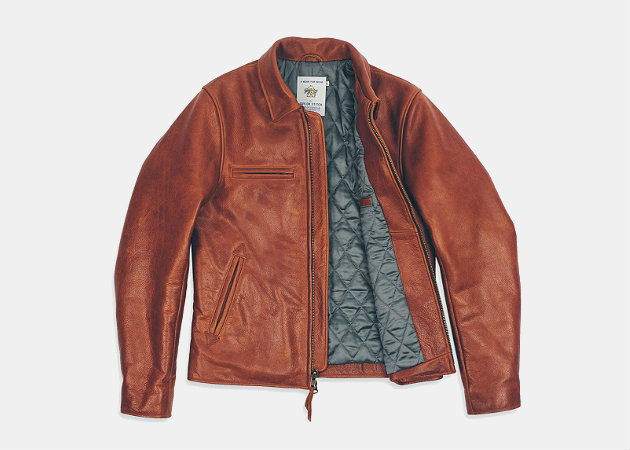 Taylor Stitch Moto Jacket in Whiskey Steerhide