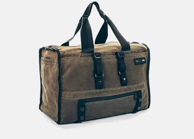Taylor Stitch The Transit Duffel in Oak Waxed Canvas