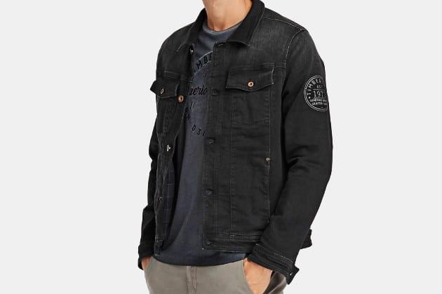 Timberland Black Denim Trucker Jacket