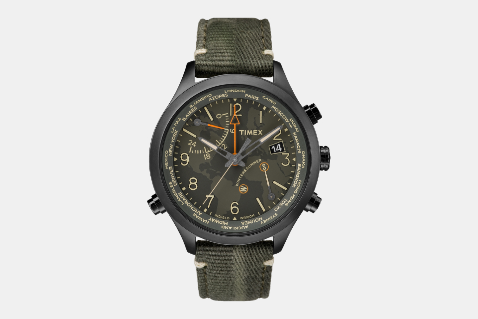 Timex Waterbury World Time Watch