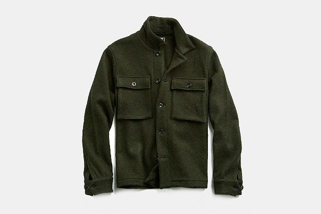 Todd Snyder Italian Boucle Shirt Jacket
