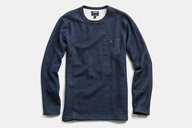 Todd Snyder Indigo Lightweight Sweatshirt