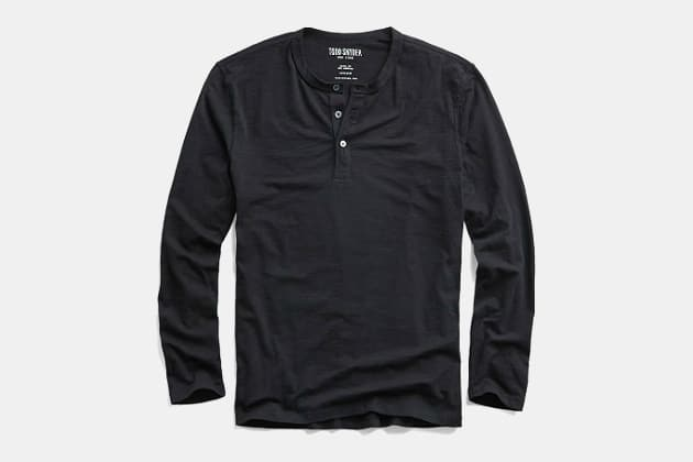 Todd Snyder Made In LA Long Sleeve Henley