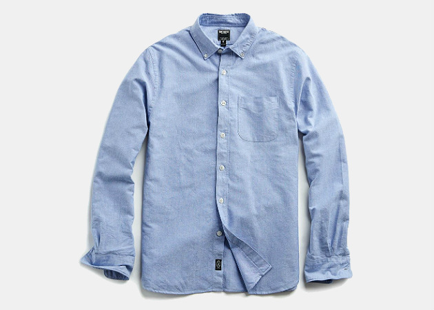 Todd Snyder Japanese Selvedge Oxford Shirt in Blue