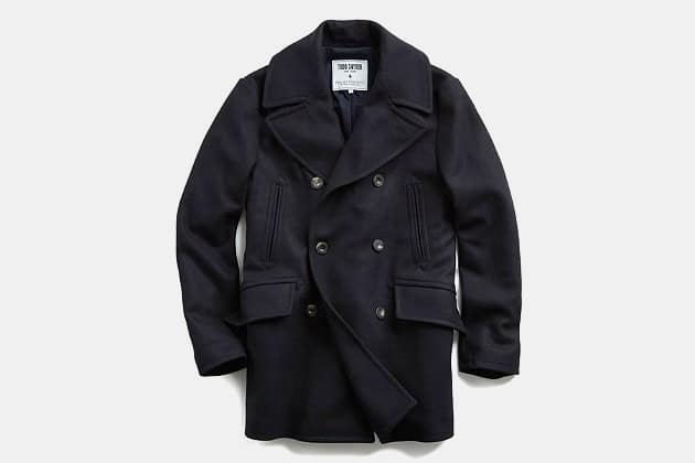 Todd Snyder x Private White Manchester Wool Peacoat