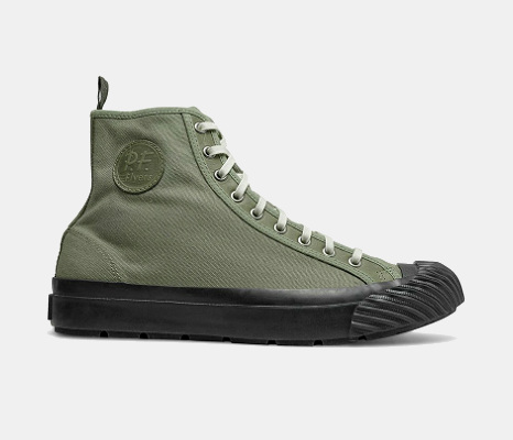 Todd Snyder x P.F. Flyers Grounder Hi-Top in Olive