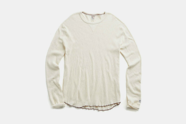 Todd Snyder + Champion Long-Sleeve Thermal Crewneck in Vintage White