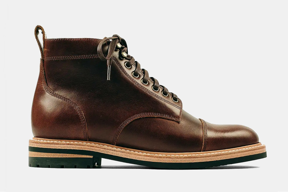 Taylor Stitch Moto Boot in Whiskey Eagle