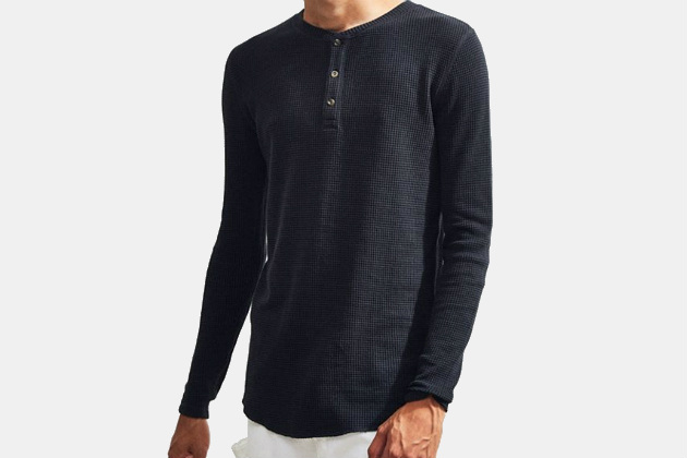 Urban Outfitters Waffle Thermal Henley