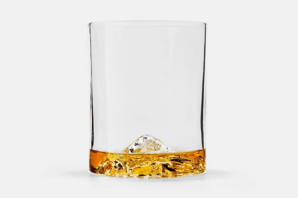 Whiskey Peaks Rocks Glass
