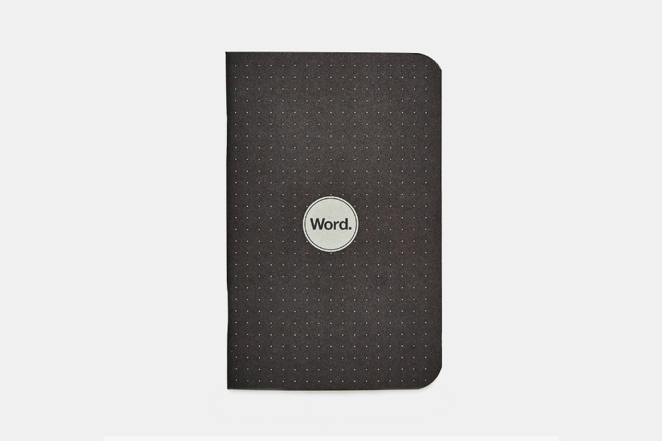 Word. Notebooks Dot Grid Black