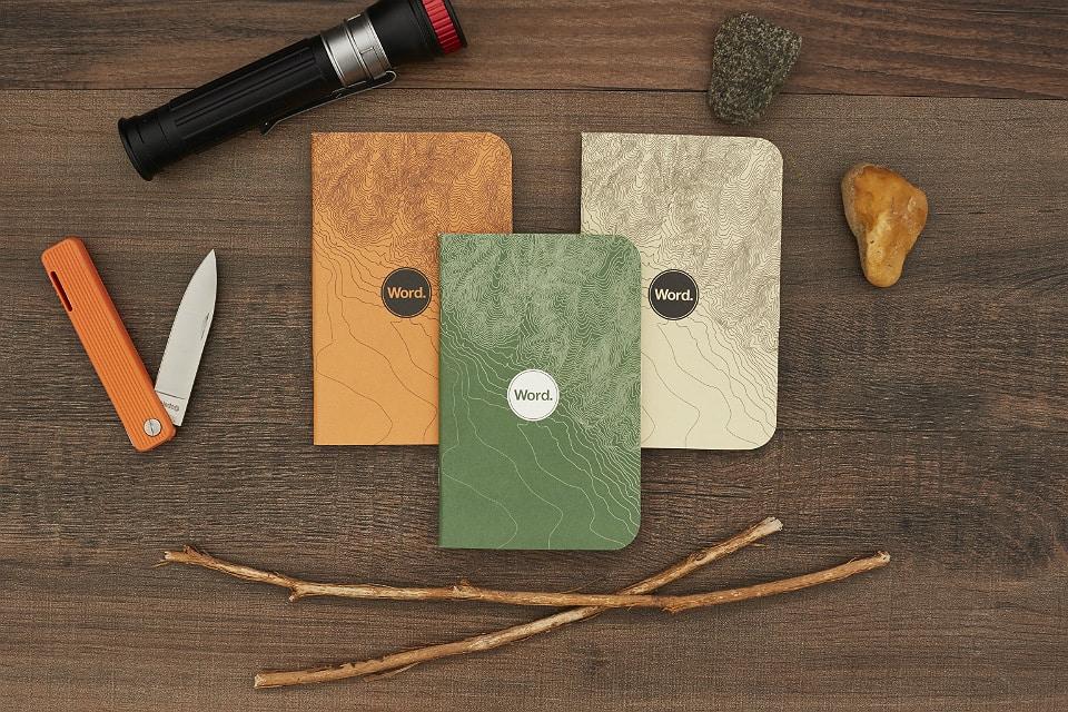 Word. Notebooks Terrain Series
