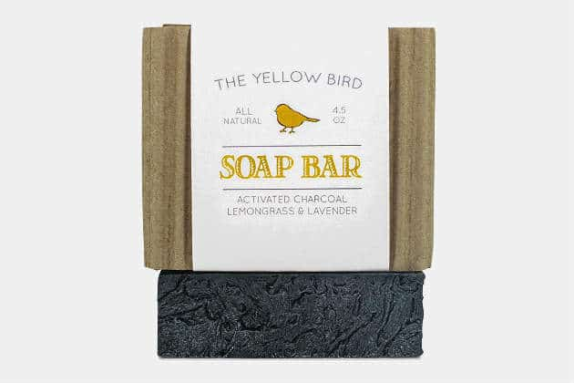 The Yellow Bird Activated Charcoal Soap Bar