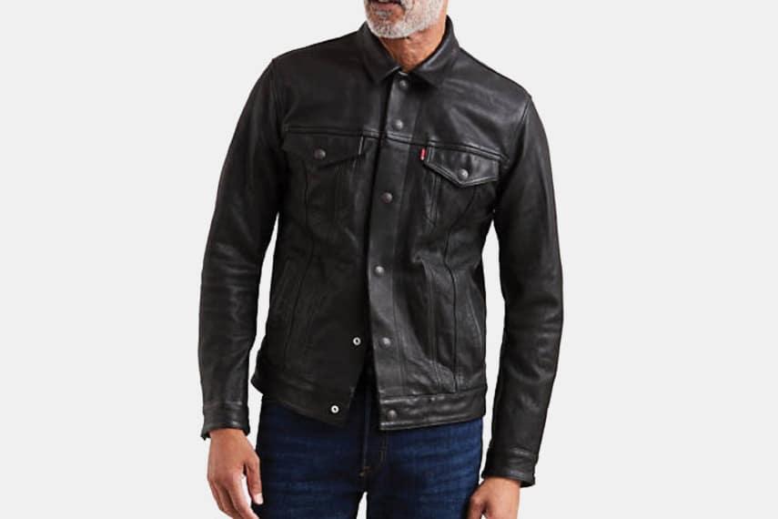 Levi's Leather Trucker Jacket