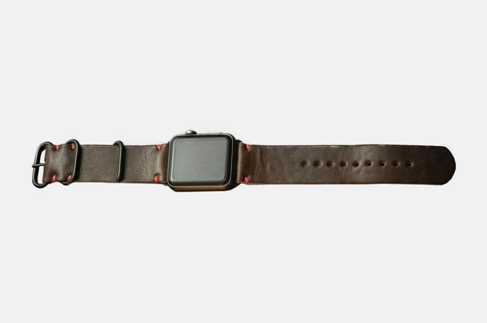 Popov Leather Apple Watch Strap - Heritage Brown