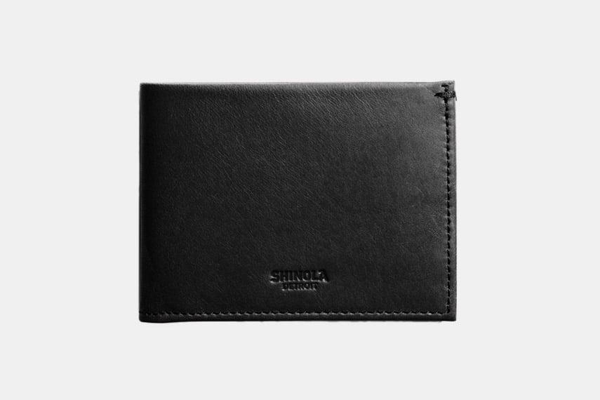 Shinola Slim Leather Bifold Wallet