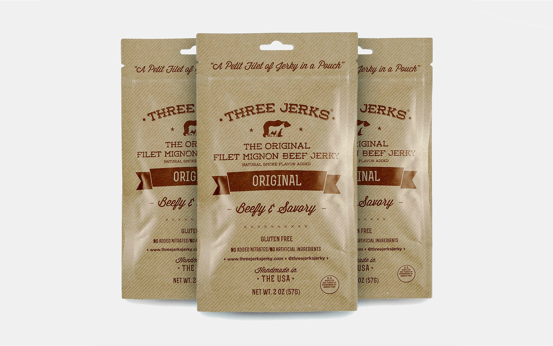 Three Jerks Filet Mignon Beef Jerky