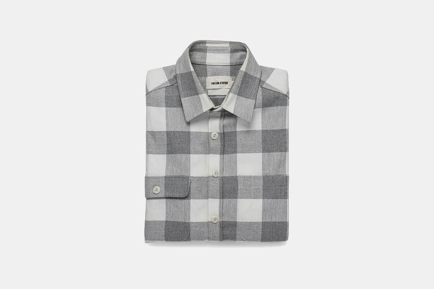 Taylor Stitch Moto Utility Shirt in Ash & Natural Plaid