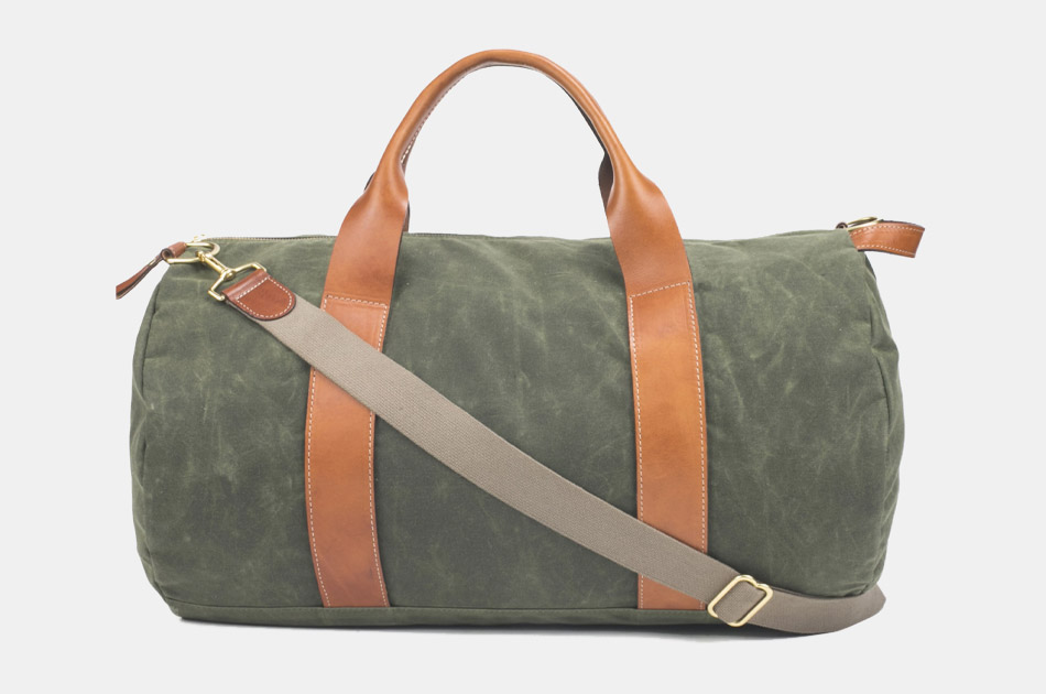 Boarding Pass NYC Voyager Waxed Weekender Bag