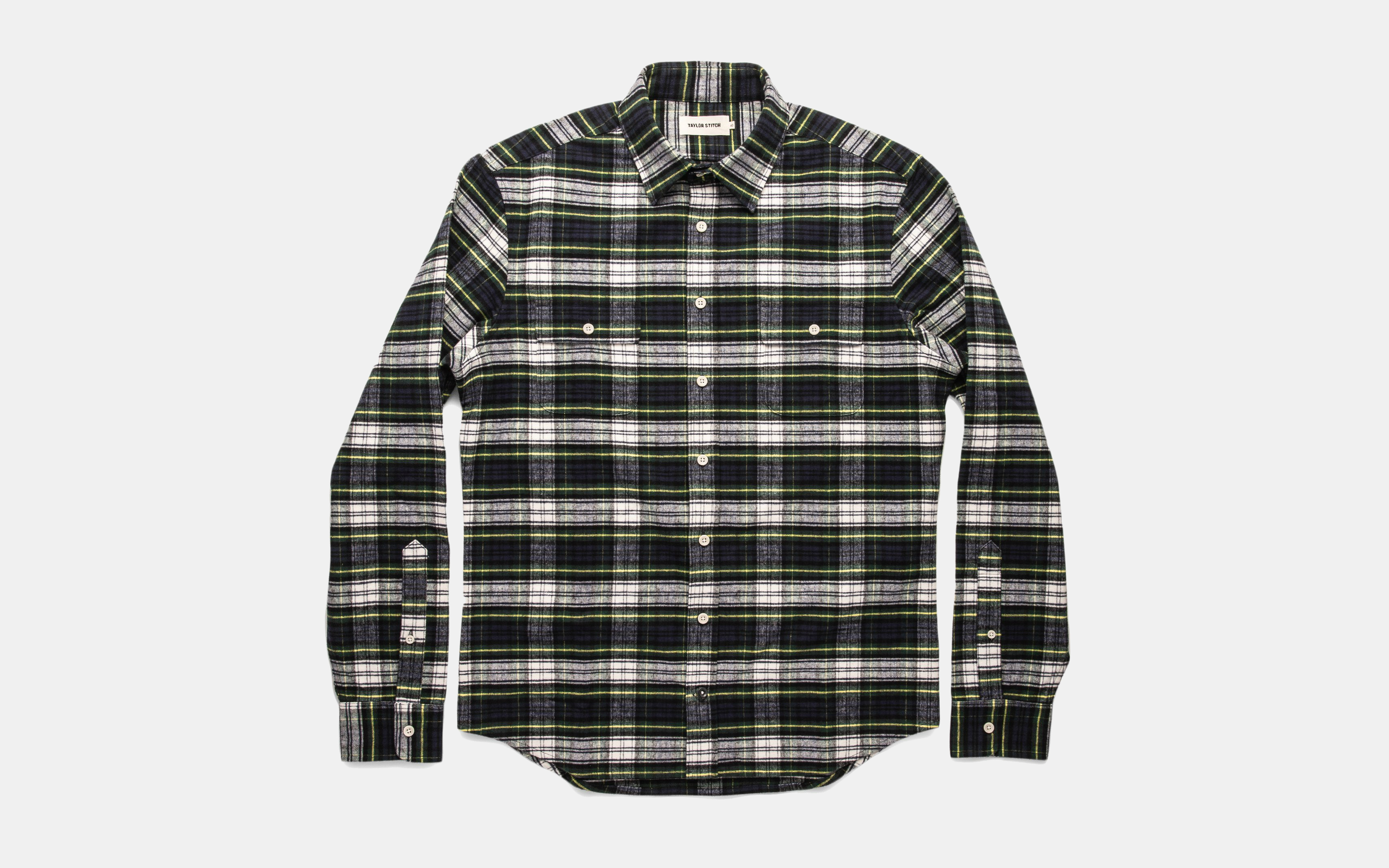 Taylor Stitch Yosemite Shirt in Blue Tartan